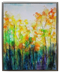 Blue Ridge Grove Modern Art  with Silver Floating Frame available at Modern Home 2 Go