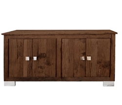 Amalfi Modern Reclaimed Teak Wood Buffet  and stainless steel handles