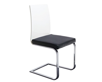 Forano Modern Dining Chair in Black and White