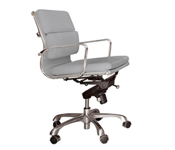 Brindisi Modern Office chair in grey leatherette