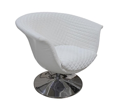 Savona Modern Lounge Chair in White