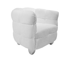 Ivoire Modern Lounge Chair White