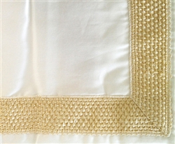 Braided Border Sham Ivory Queen