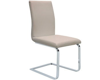Matino Modern Dining Chair in Grey Leather