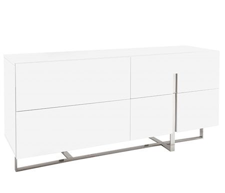 Lugo Modern Cabinet in White Lacquer at MH2G Outlet Showroom