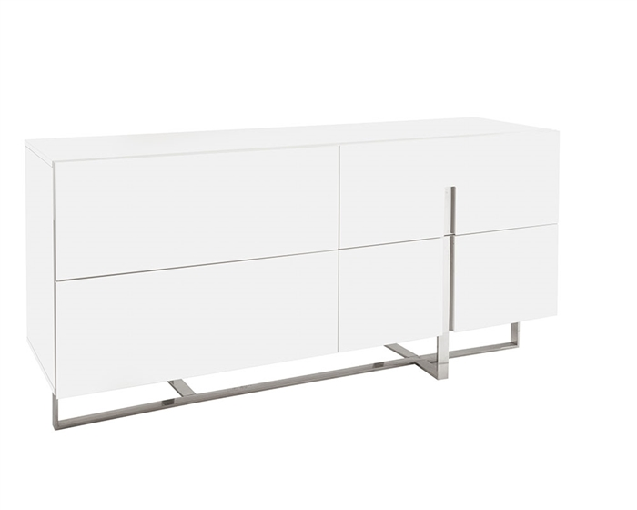 Modern contemporary Lugo Cabinet in white lacquer at MH2G