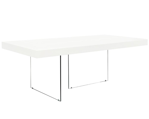 Lucca Modern Dining Table in White