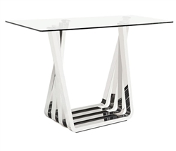 Sorrento Modern Side Table in Stainless Steel