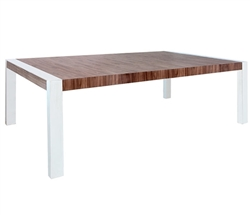 Lugo Modern Dining Table in Walnut