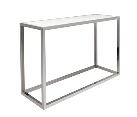 Ivoire White Marble Top Modern Console Table