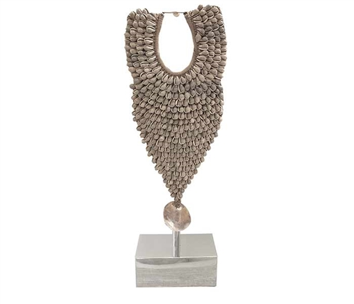 Allure Modern Shell Necklace with Stainless steel stand