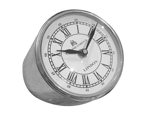 Clock Nickel Plated Modern Decor