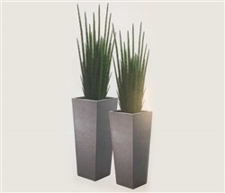 Tower Planters with  Snake Grass