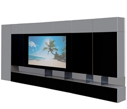 San Remo Modern Wall Unit in Grey Lacquer