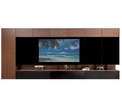 "San Remo Modern Wall Unit in Light-Walnut 65""TV"