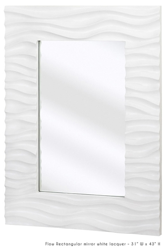 Flow mirrors in white lacquer collection at mh2g