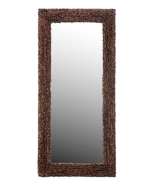 Palm Modern Rectangular Mirror made from Abaca