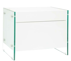 Lucca Modern Side Table in White