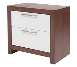 Vercelli Modern Side Table in Walnut