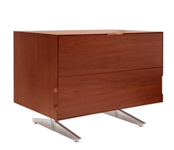 Avola Modern Side Table in Walnut