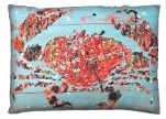 Blue Sea Crustaceans Outdoor Pillows