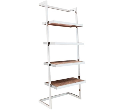 Nouveau Etagere Modern Shelves in Barkwood finish