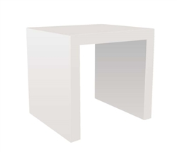 Cilento Modern Nesting Table Medium in White
