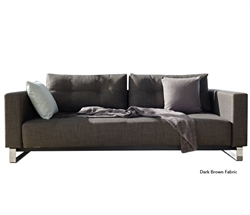 Sofa Bed - Cassius Deluxe Excess Dark Brown Fabric Queen Size Modern Sofa Modern Bed - MH2G
