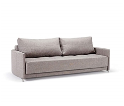Crescent Deluxe Excess Sofa Stainless Steel Grey
