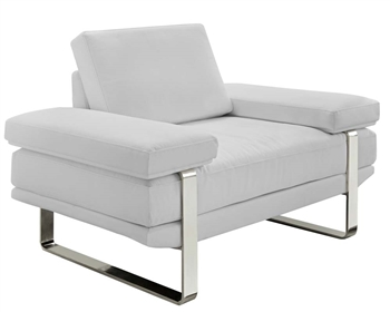 Lizzano Modern Sofa Chair in Grey Leather