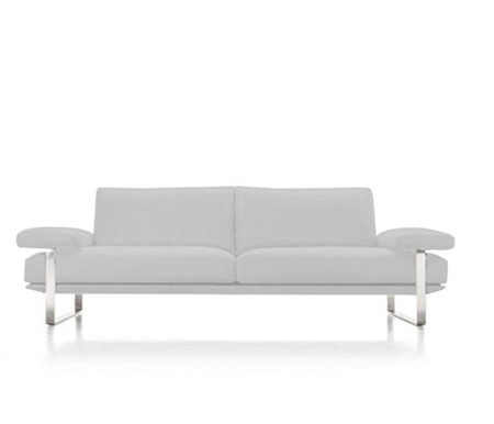 Lizzano Modern Sofa in 100% Italian White Leather