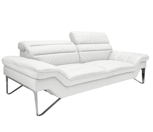 Milano Modern Sofa Set in White Leather