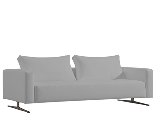 Ancona Modern Sofa in Grey leatherette
