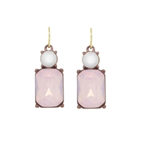 Pink Opal Gem Earrings - LTE08W
