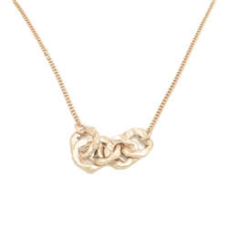 Long Linked Circles Necklace - NLK08B