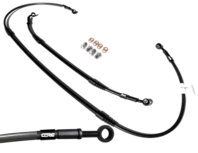Mx Core Moto front and rear brake line kit fits HONDA CR80R 1998-2002 | CR85R 2003-2007 (SMALL WHEEL) carbon look