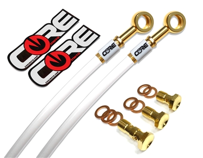 Honda CB500X non ABS 2013-2015 Front and rear brake line kit White lines 24k gold plated kit