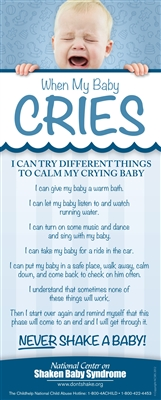 When My Baby Cries Bookmark