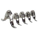 Aftco Wind-On Guides -WO66C  Set of 5 - Chrome