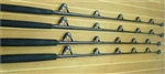 BlackHook Custom Black Out Stand Up Fishing Rods Black Guides/Gold Rollers