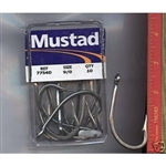 MUSTAD BAY KING #7754-DT FORGED EXTRA SHORT SHANK HOOK 11/0 - 10 pack