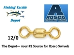 ROSCO S830-120  SERIES BRASS BARREL SWIVELS 12/0