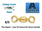 ROSCO S830-80 SERIES BRASS SWIVEL 8/0