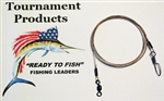 "TOURNAMENT FISHING PRODUCTS SURFLON LEADERS 12"" COASTLOCK SNAP  (2 PACK- NO HOOK)"