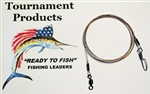 "TOURNAMENT FISHING PRODUCTS SURFLON LEADERS 48"" COASTLOCK SNAP (SINGLE PACK- NO HOOK)"