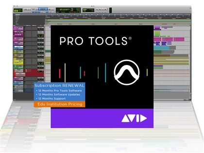 Avid Pro Tools 12 Annual Upgrade and Support Plan Reinstatement - Institution (Activation Card)