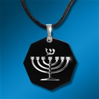 Body Shield Expression of Faith - Menorah Silver on Black