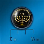 Cell Shield: Expressions of Faith - Menorah Gold on Black