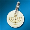 Key Ring: Expressions of Faith - Menorah Gold on White