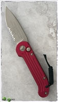 Microtech LUDT Auto 135-14RD Red Handle Bronzed Serrated Blade & Hardware